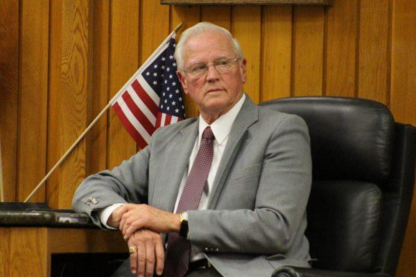 Mayor Jim Heigl at Wednesday's Sylacauga City Council/Sylacauga Little League Town Hall | Michael Brannon for SylacaugaNews.com | © 2018, SylacaugaNews.com/RadioAlabama. All Rights Reserved.